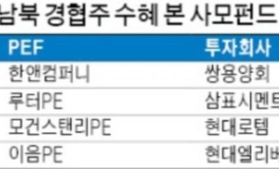 남북경협株 담은 사모펀드 '함박웃음'