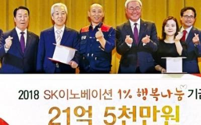 SK이노베이션 노사 '1% 행복나눔'