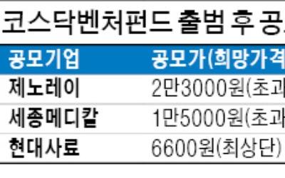 공모주 시장 '앗 뜨거워'… 코스닥벤처펀드 '뭉칫돈' 유입