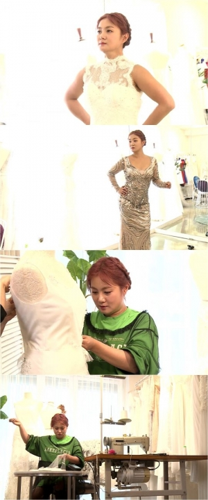 '나 혼자 산다' 박나래, 절친 웨딩드레스 만들기 도전 '금손 인증'