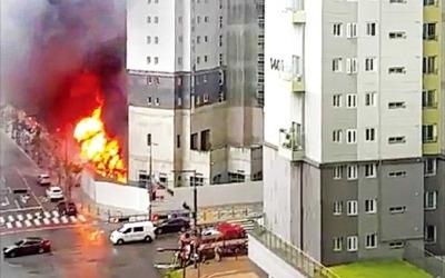 세종시 주상복합아파트 공사장 화재