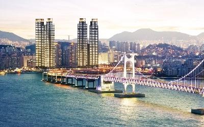부산 용호동 W , 부산의 새 '랜드마크'로 우뚝 선 초고층 주상복합 아파트