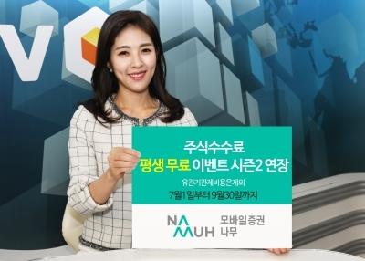 """NH투자증권 """"모바일증권 '나무' 평생무료 이벤트 9월까지 연장"""""""