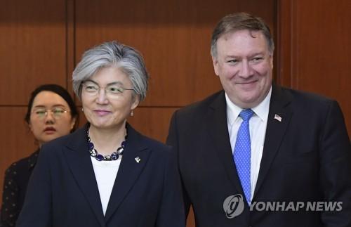 폼페이오, 20일 뉴욕서 강경화 외교장관과 회동… 北상황 논의