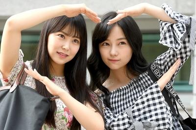 NMB48 무라세 사에-시로마 미루, '예쁘게 하트~' (프로듀스 48 출근길)