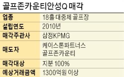 '국내 1호 법정관리 M&A 골프장'… 골프존안성Q '몸값 높여' 매물로