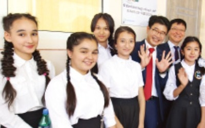 아시아나, 우즈베크에 '아름다운 교실'