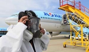 """""""깨끗하게""""… 대한항공 항공기 방역"""