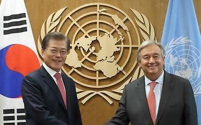 문대통령, 뉴욕 도착…비핵화 대화 중재·외교전 착수