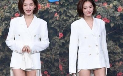 김재경, 과감한 초미니 핫팬츠 입고 '성큼성큼'