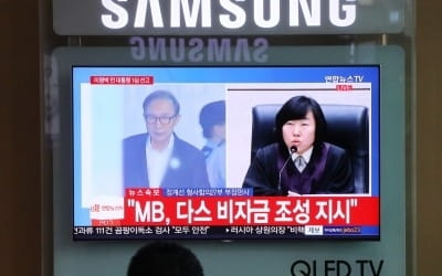 """법원 """"삼성의 다스 소송비 대납은 MB 뇌물…대가성 인정"""""""