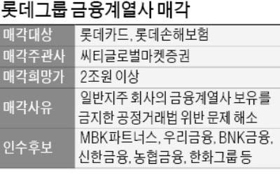 롯데카드·롯데손보 매각 본격화…새 주인은?