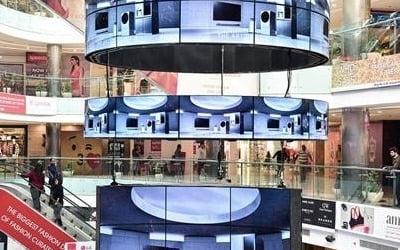 LG전자, 인도 델리 최대 쇼핑센터에 대형 올레드 사이니지