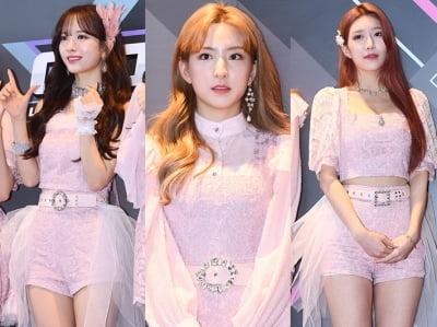 우주소녀 '핑크 핫팬츠에 드러난 각선미'