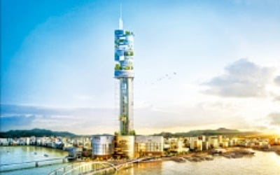 부산 107층 롯데타워 10년 만에 공사