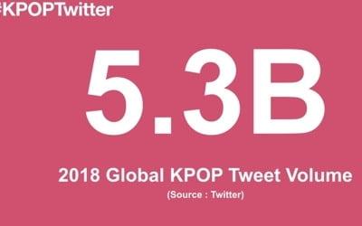 """트위터 """"작년 전 세계 K팝 관련 트윗 53억건"""""""