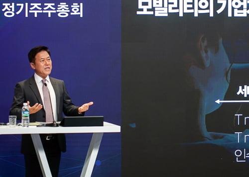 """박정호 SK텔레콤 사장 """"지배구조 개편, 해 넘길 수도"""""""