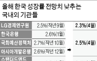 """올해 성장률 2.5%→2.3% 하향…LG硏 """"반도체 하반기 회복 어려워"""""""