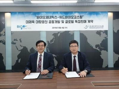 바이오제네틱스, 위드바이오코스팜과 대체육 기술 공동개발