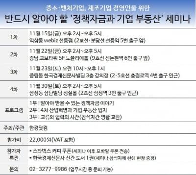 [알아야 받을 수 있는 정책자금 이야기 #11] 매출채권보험이란?… 한경닷컴 '정책자금 세미나' 개최