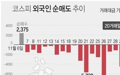 외국인, 22일만에 '사자' 전환…'셀코리아' 마무리되나(종합)