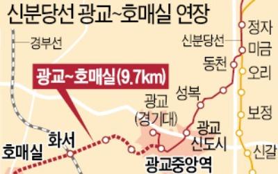 강남까지 47분…신분당선 광교~호매실 2023년 '첫삽'