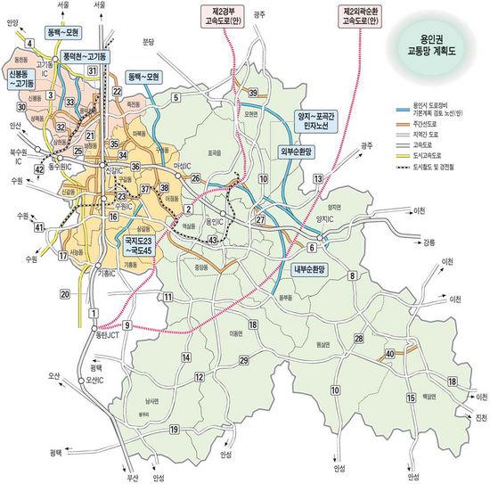 [수도권 개발지도가 바뀐다] (1) 용인 … 교통망 확충은 … 제2경부 등 고속도로 3개 신설