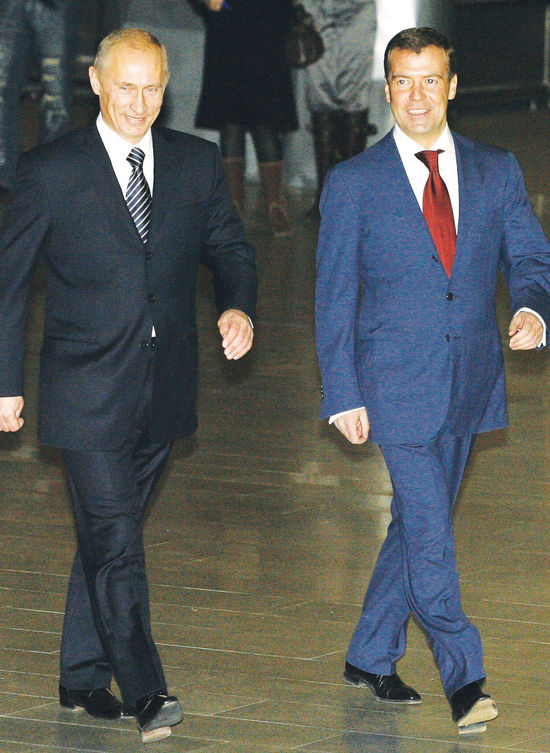 푸틴, 대선후보로 메드베데프 지명