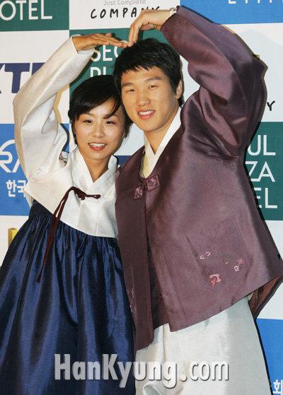 [포토] 이원희, 김미현 '우리사랑 지켜봐주세요'