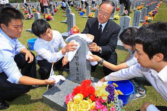 [대전·충청]한남대,대전현충원 참배 및 묘역환경정화활동 벌여