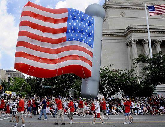 美 독립기념일…성조기 풍선의 행진