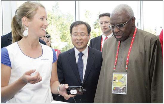 삼성, 세계육상선수권대회에 디지털 갤러리