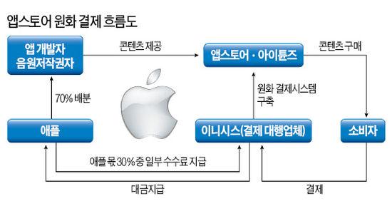 """애플, 앱스토어 원화 결제 허용…""""세계 3위 한국 앱 시장 놓칠 수 없다"""""""