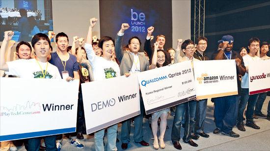 '튀는 사람들' 구직 돕는 SNS 서비스 개발…이지웍스, 비론치 대회서 우승 트로피