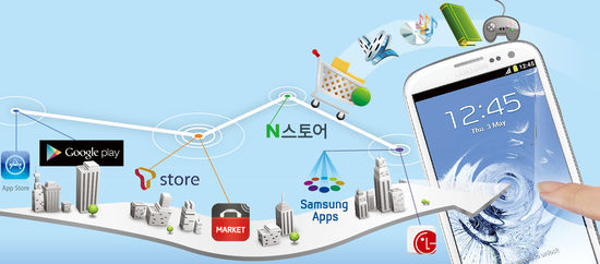 [Smart & Mobile] '앱 장터' 춘추전국시대…스마트폰族은 즐겁다