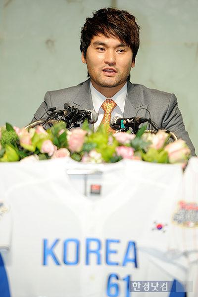 [포토] 'KOREA 61' 박찬호 은퇴