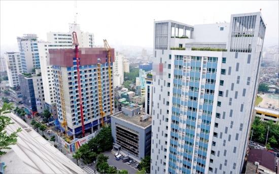 공급 과잉으로 도시형생활주택의 공실이 늘고 있다. 사진은 서울 구로구 일원에 지어지고 있는 도시형생활주택. /신경훈 기자 nicerpeter@hankyung.com