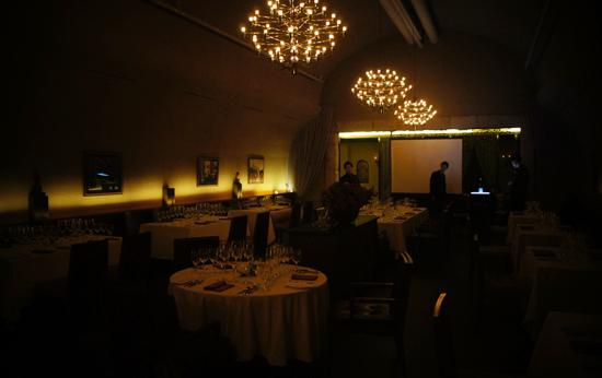 사진= '궁극의 와인, 전설을 향하다' 행사가 열린 라그로타 레스토랑 실내 전경. 사진=김민성 기자