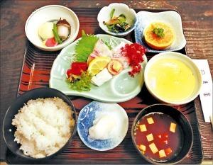 간코도오리 일본요리정식.