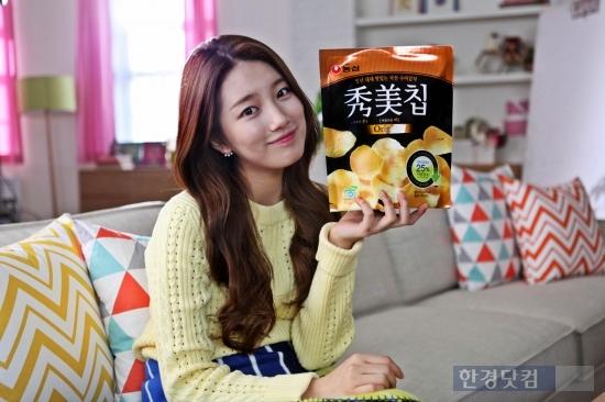 농심 수미칩, 올해도 '수지'와 함께…광고모델 재발탁