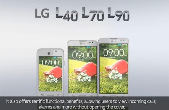 LG전자 'L시리즈Ⅲ' 3개 기종 모습.