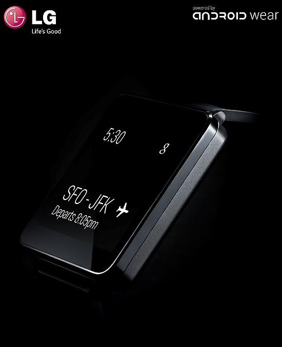 구글의 '안드로이드 웨어'를 탑재한 LG전자 첫 스마트워치 'G 워치'.