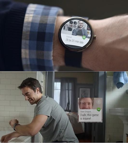 구글 '안드로이드 웨어'를 첫 탑재한 구글 스마트워치 제품.