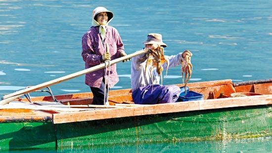욕지도는 물이 깨끗하고 해산물이 싱싱해 맛 여행을 떠나기에도 좋다.