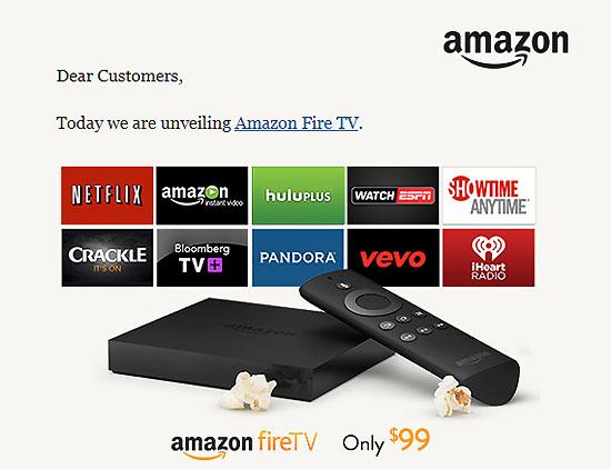 아마존이 출시한 '파이어 TV'.