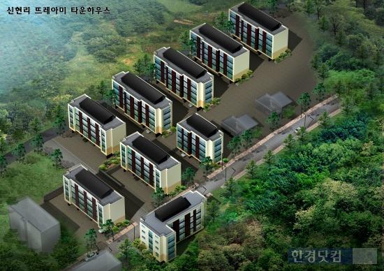 이원주택이 경기 광주 오포읍 신현리에 신축한 타운하우스형 빌라 '뜨레아미' 조감도 / 이원주택 제공.