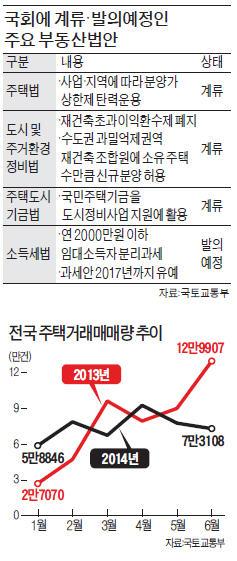 [정치에 발목 잡힌 부동산] 부동산시장 또 '국회 리스크'…회복 경기 '불씨' 꺼뜨리나