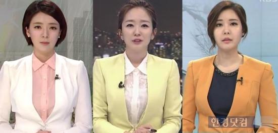 (왼쪽부터)배현진 MBC 아나운서, 박선영 SBS 아나운서, 이현주 KBS 아나운서. 박선영 아나운서는 지난 18일을 마지막으로 '8뉴스'에서 하차했다. 사진=각사 뉴스 화면 캡처