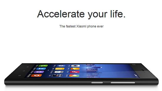 샤오미의 인기 스마트폰 Mi3. 출처=샤오미 홈페이지
