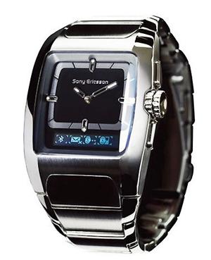 소니에릭슨이 2006년 처음 선보인 '블루투스 시계', MWB-100.
